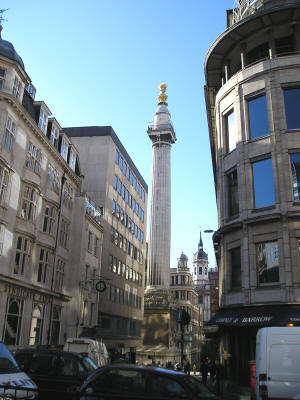 Great Fire Monument in London England