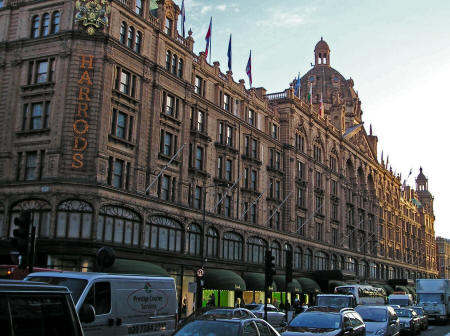 Harrods Department Store in London England