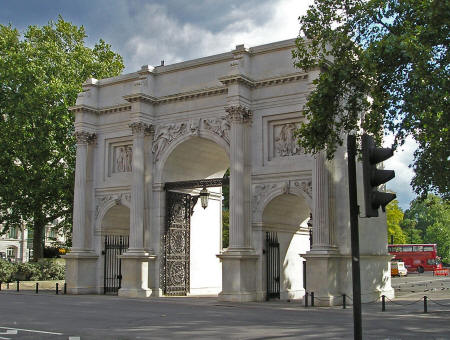 Marble Arch in Hyde Park, London