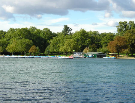 Serpentine Lake in London England